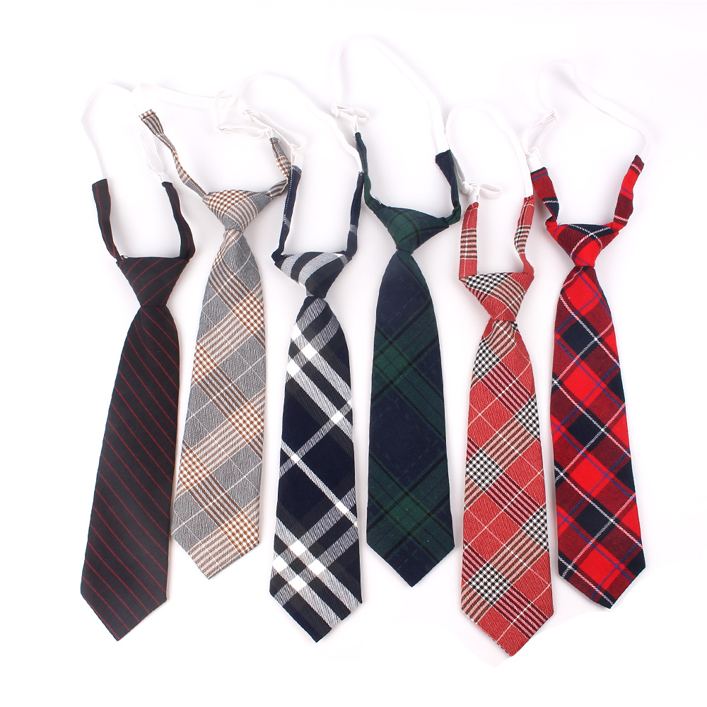 Neck-Tie Ties Slim Novelty Tie Gifts Christmas Plaid Girls Boys Cotton Casual Fashion