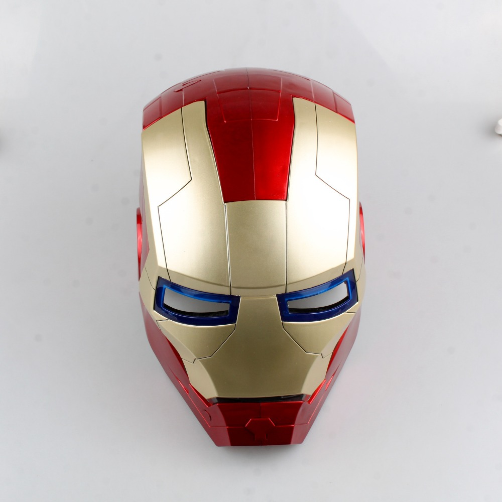 Iron Man Helmet Action Figure 1/1 scale painted figure Light Eyes Iron Man Helmet Doll PVC ACGN figure Toy Brinquedos Anime hot the avengers ironman action figure 17 5cm mk42 mk43 iron man doll pvc acgn figure toy brinquedos anime kids toys