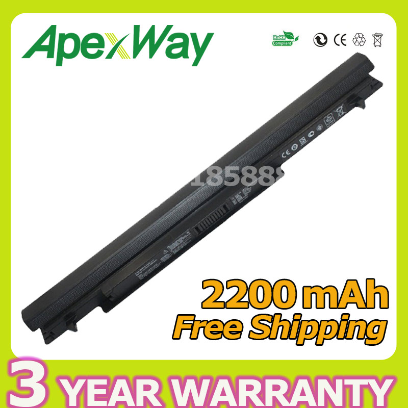 Apexway 4 cells laptop battery for Asus A31-K56 A32-K56 A41-K56 A42-K56 K56C K56CA K56CB K56CM K56V A56C A56CM A56V Series