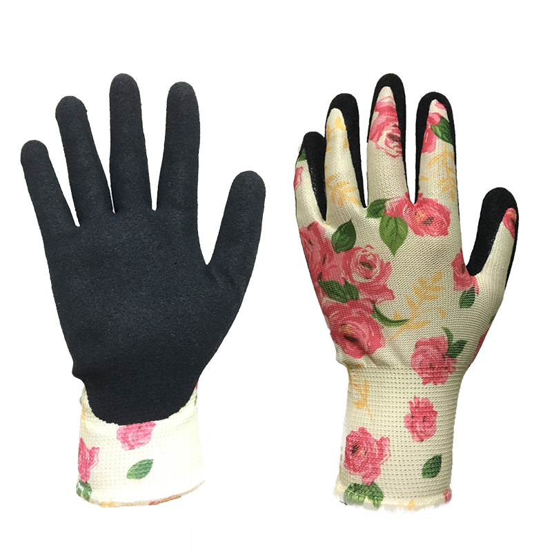 Купить с кэшбэком Free shipping  two pairs gardening working gloves anti-spike,anti-water protecting latex working glove excellent grab
