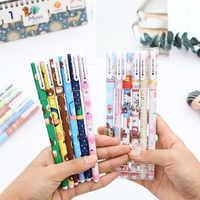 6 Color Gel pen set Starry Pattern Cute Kitty Hero Roller Ball Pens Stationery Office School Supplies