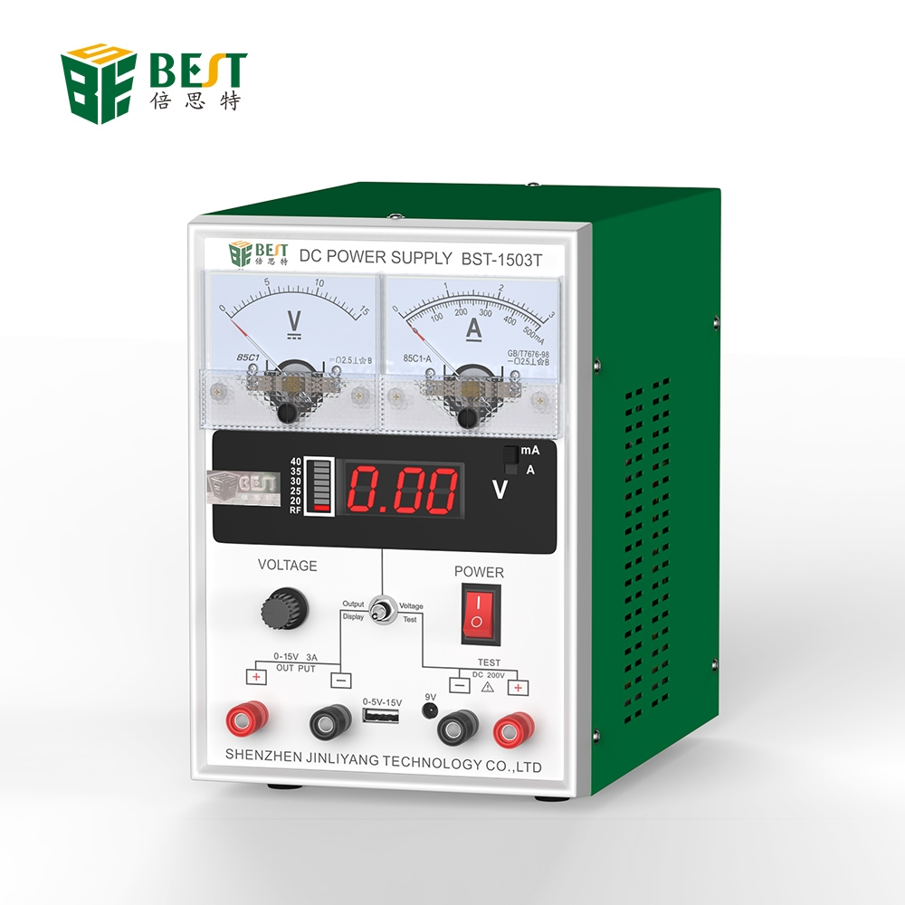 15V3A DC Regulated Power Supply Mobile Phone Repair Pointer Table LED Digital Display GSM Signal Detection Function BST-1503T 15V3A DC Regulated Power Supply Mobile Phone Repair Pointer Table LED Digital Display GSM Signal Detection Function BST-1503T
