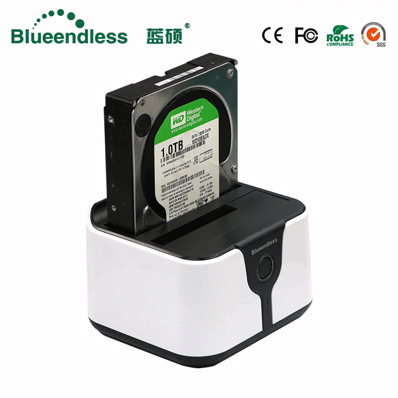 Blueendless Sata <font><b>USB</b></font> <font><b>3.0</b></font> <font><b>case</b></font> hd <font><b>externo</b></font> 2 bay <font><b>case</b></font> hd Dual <font><b>hdd</b></font> <font><b>case</b></font> sata to <font><b>usb</b></font> external hard drive <font><b>case</b></font> <font><b>hdd</b></font> docking station image