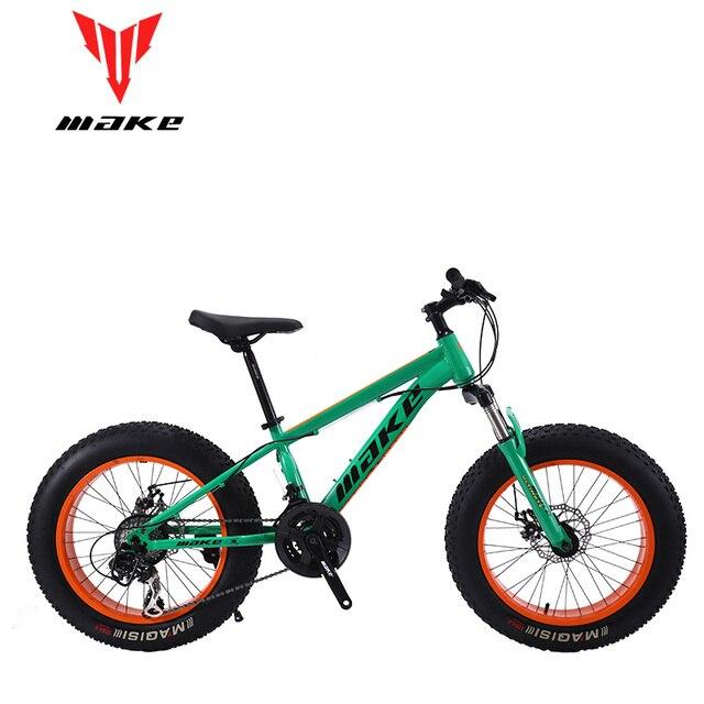 Make steel frame, Fatbike 20 wheel, 24 speed SHIMANO