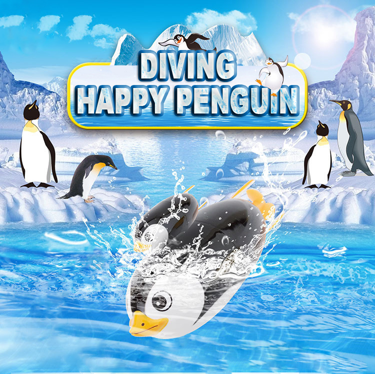 Funny Electric Diving Penguin Swimming Pool Diving Game Summer Children Kid Underwater Swimming / Diving Swimming Toy Pool