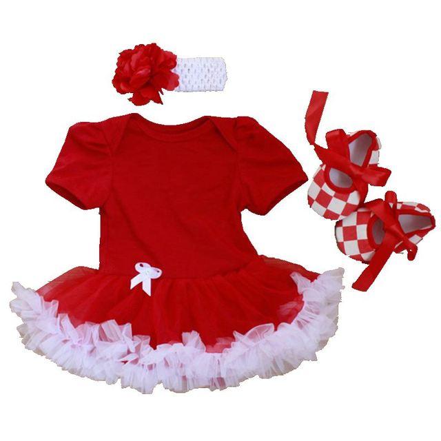 Чистый Цвет Baby Girl Dress Хлопок Малышей Туту Повязка & обувь Набор DIY Ребенок Партия Наряды Платье Филь Bebe Дети одежда