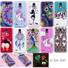 For  LG K10 2017 X400 M250 M250N Case Luminous Animal Flower Anime Silicone TPU Skin Soft Back Cover Phone Case for LG K10 2017 смартфон lg k10 2017 m250 gold