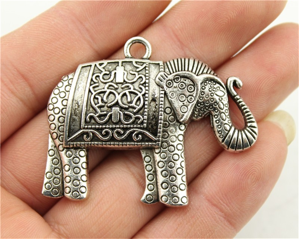 3pcs 38*48mm Elephant Charms, Handmade Jewelry Accessories, DIY Jewelry Pendant