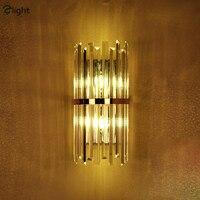 Современный роскошный блеск cristal светодиодный настенный светильник тарелка черный золотой светильник настенный прикроватные светильники