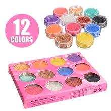 12 renkler/set mika Pigment tozu mika tozu epoksi reçine boya inci Pigment sabun kozmetik ürünleri reçine makyaj