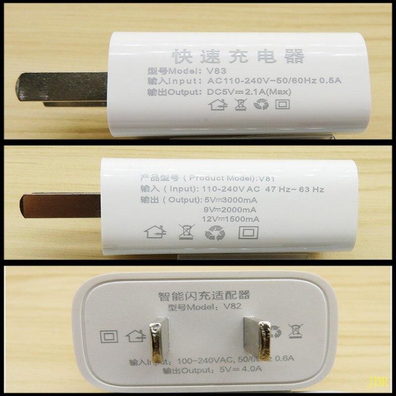 300 pcs Mobile téléphone chargeur USB plug 4A flash charge haute vitesse 3A android téléphone universel 2A rapide charge directe charge