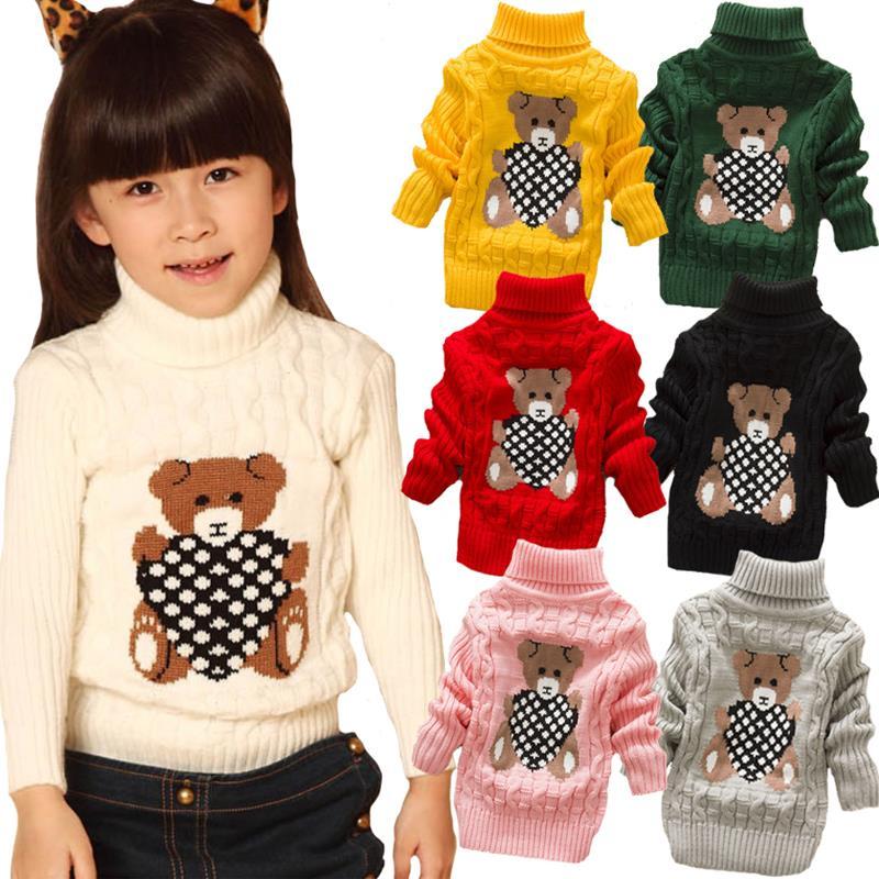 розничная 0 4years водолазка вязаные свитера мальчики девочки Baby