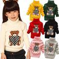 Venta al por menor-$ number año de cuello alto de punto suéteres de los muchachos niños niñas bebé Ropa Ropa Infantil primavera otoño otoño