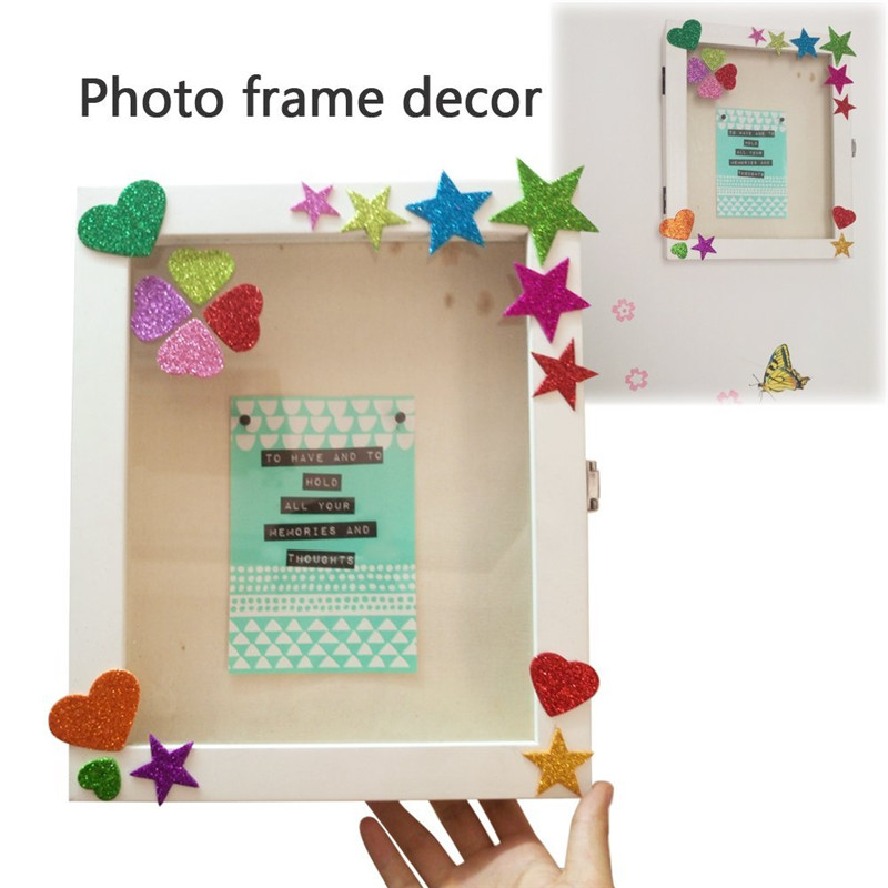 1 упаковка пены наклейки с блестками Звезда Форма для создания свадебного украшения Маленькая подвеска в форме сердца бумажные для дня рождения поставки наклеек