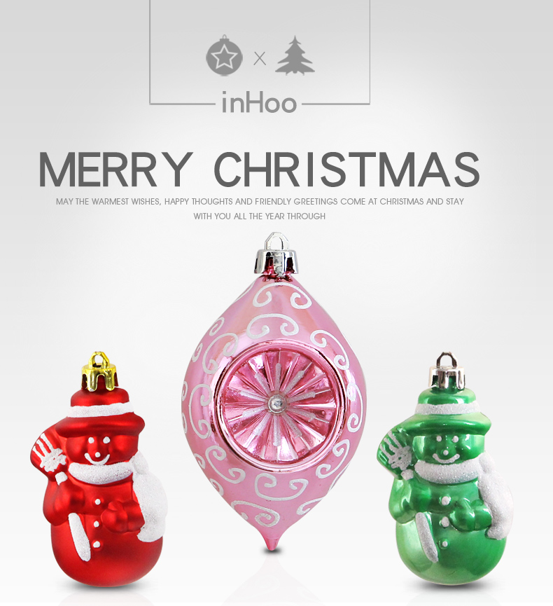 01 inhoo Pink Christmas Tree Ornaments Christmas Balls Decoration Baubles Plastic Hanging Ball Craft Supplies Xmas Gifts 2019 NEW