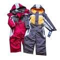 Зимние Комбинезон дети одежда для мальчиков открытый водонепроницаемый пальто, лыжный костюм девушки ветрозащитный верхняя одежда, дети толстовки, теплый мальчик одежда