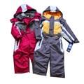 Macacão de inverno crianças roupas menino casaco impermeável ao ar livre, terno de esqui meninas à prova de vento outerwear, hoodies crianças, menino quente roupas