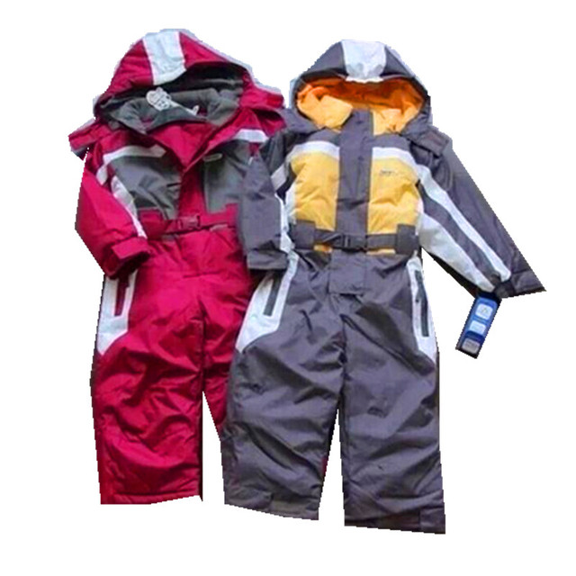 Winter Rompers kids clothing boy outdoor waterproof coat,ski suit girls windproof outerwear,children hoodies,warm boy clothes