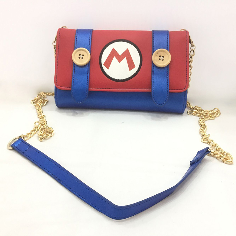 Cute Cartoon Mario Bros Messenger Bags Anime Game Super Mary Day Clutch Leather Purse Fashion Mini Bags Girl Lady Crossbody Bag image