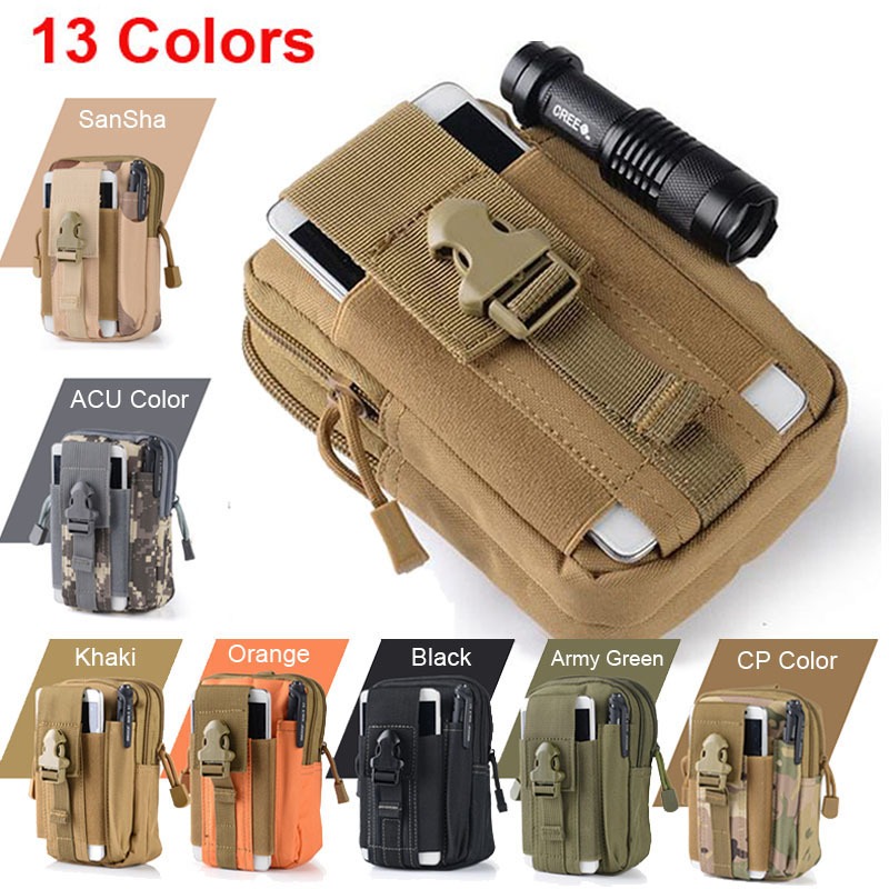 for Iphone 6 6s 7 Plus for Samsung Galaxy Tactical Molle Pouch Belt Waist Packs Bag Phone Cases Pocket Military Waist Fanny Bags
