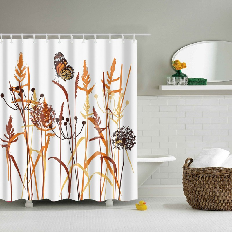 180180cm 1pcs dandelion shower curtains design water resistance fabric polyester waterproof home bathroom curtains
