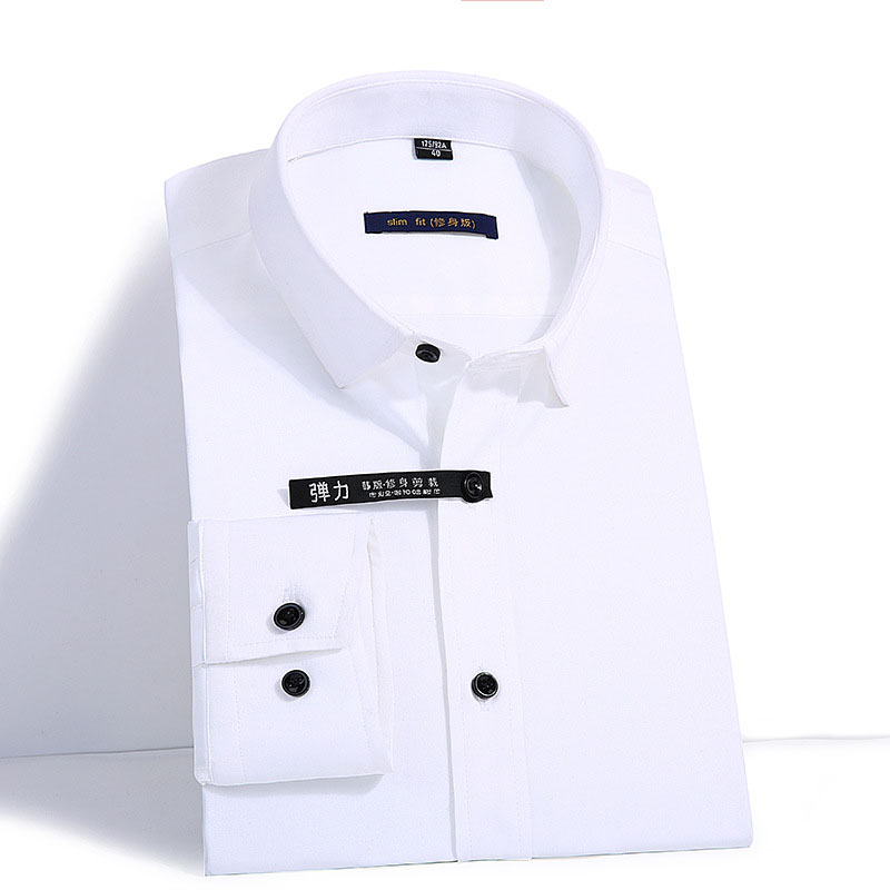 Men's Bamboo Fiber Dress Shirts Brand Slim Fit Long Sleeve White Shirt Men Business Casual Social Shirt Male Camisa Masculina