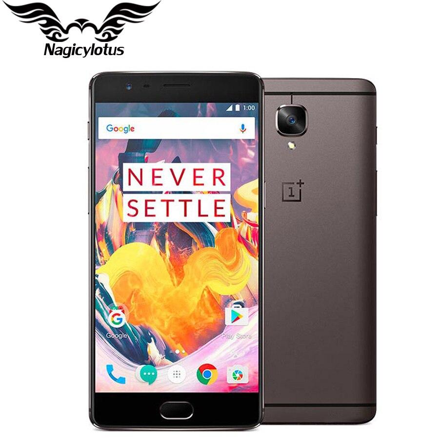 Uno más 3 T 6GB RAM 64 GB/128GB ROM versión UE OnePlus 3 T A3003 4G LTE móvil teléfono 5,5 Android Snapdragon 821 NFC Smartphone