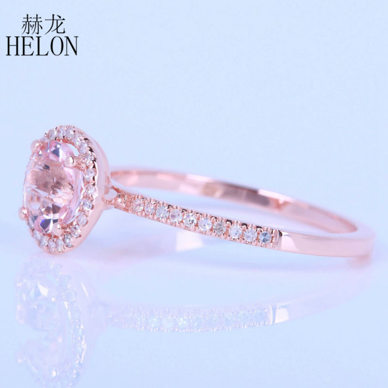 Natural 2ct Pink Morganite 925 Solid Sterling Silver Engagement Ring Size 9.5