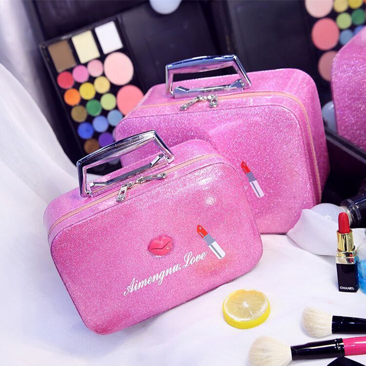 PU Leather Makeup Brushes Tool Storage Box Cosmetic Bag Beauty Case Professional Waterproof Storage Bag