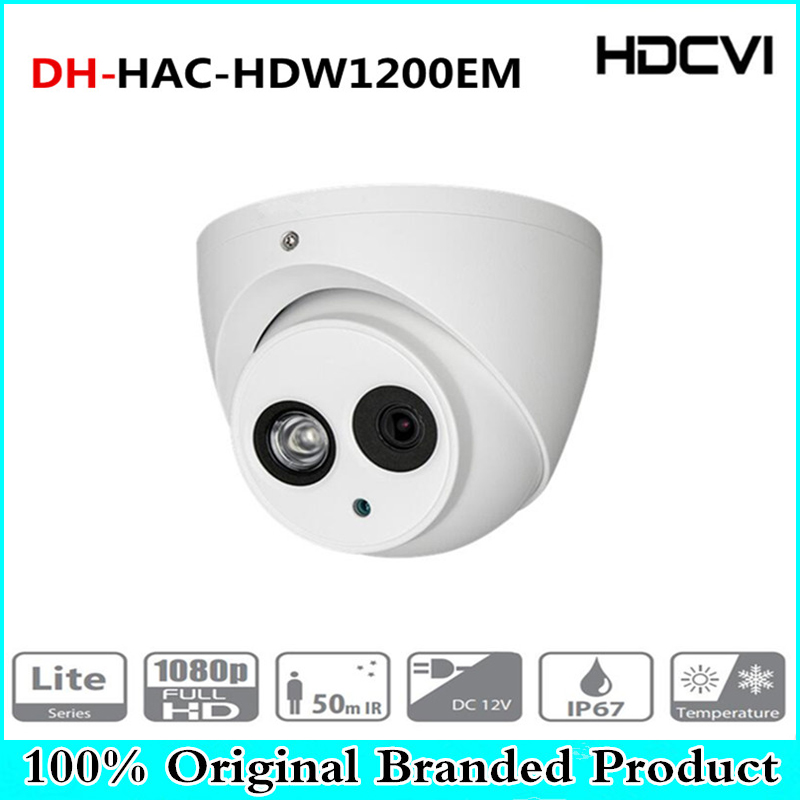 DH Wholesale english version 2MP 1080P HDCVI HAC-HDW1200EM replace HAC-HDW1200E IR Eyeball Camera DH-HAC-HDW1200EM With Dahua dahua camaras de seguridad dahua hdcvi dome camera 1 2 7 2megapixel cmos 1080p ir 40m ip66 dh hac hdw1200e a security camera