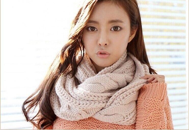 Knitting Pattern Snood Scarf Free : Popular Knit Chunky Scarf-Buy Cheap Knit Chunky Scarf lots from China Knit Ch...