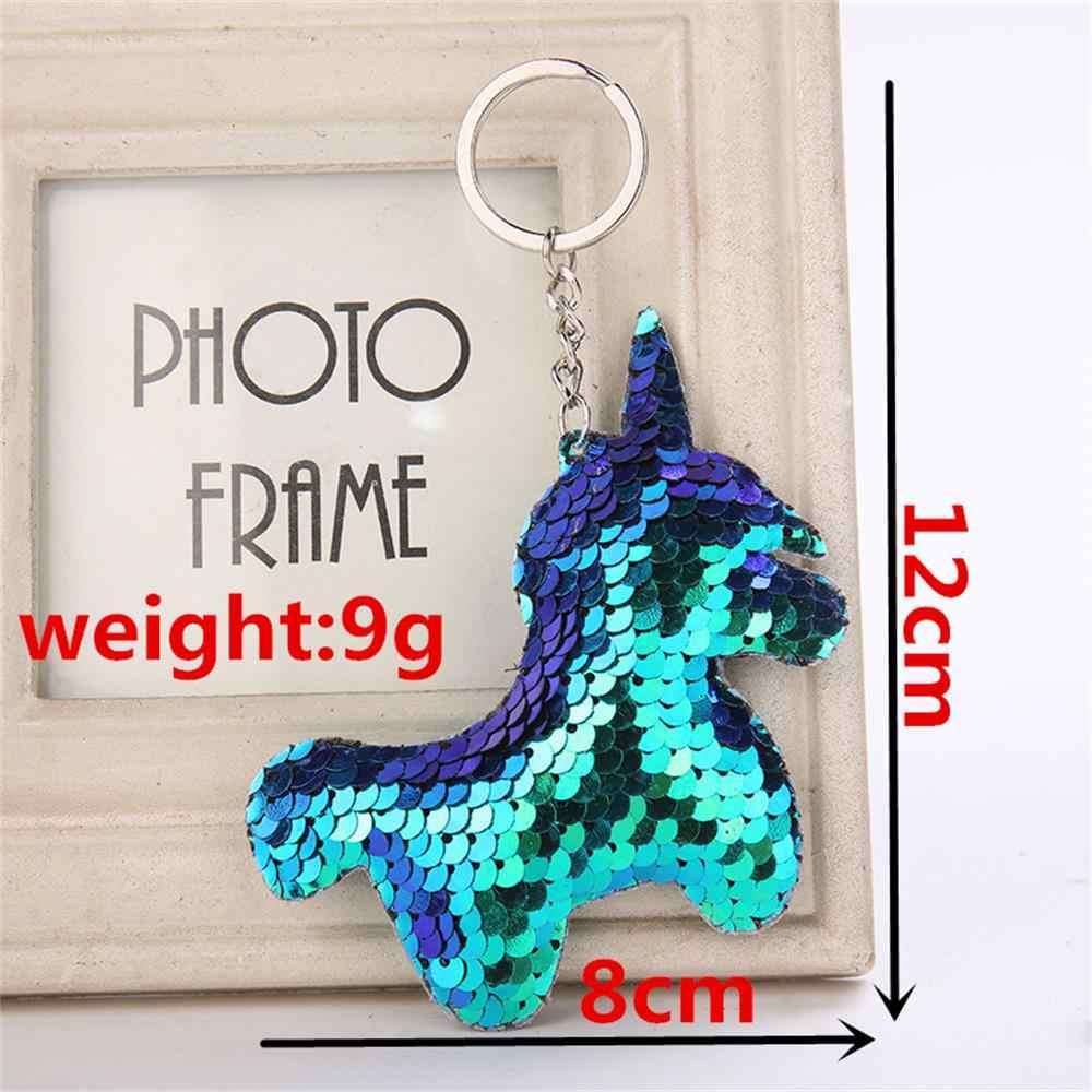 Porte-clés Paillettes Unicorn Femme