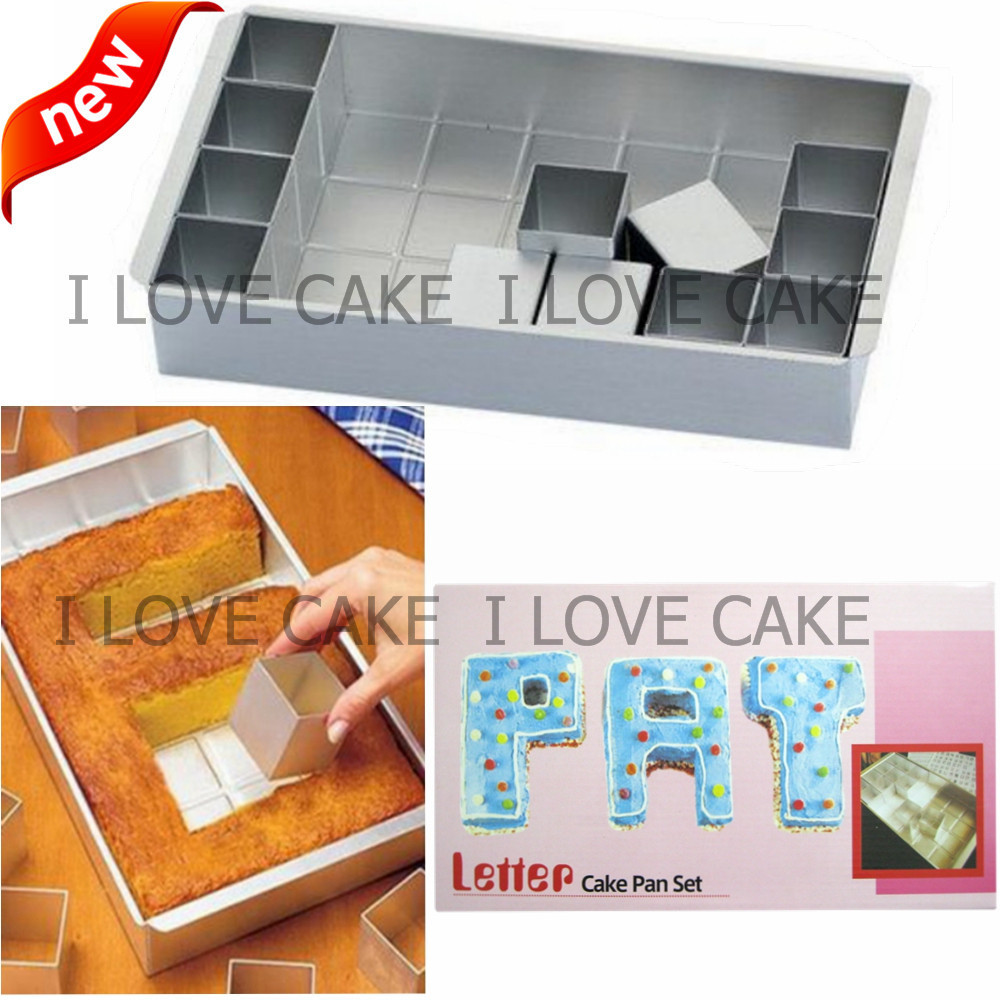 Letter and number cake pan set cake decorating tools for Kitchen set letter l