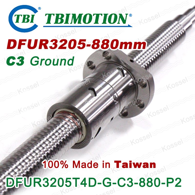TBI MOTION C3 880mm Customized Grinding 3205 Ball screw 5mm lead with DFU3205 ballnut for diy CNC kit горелка tbi sb 360 blackesg 3 м