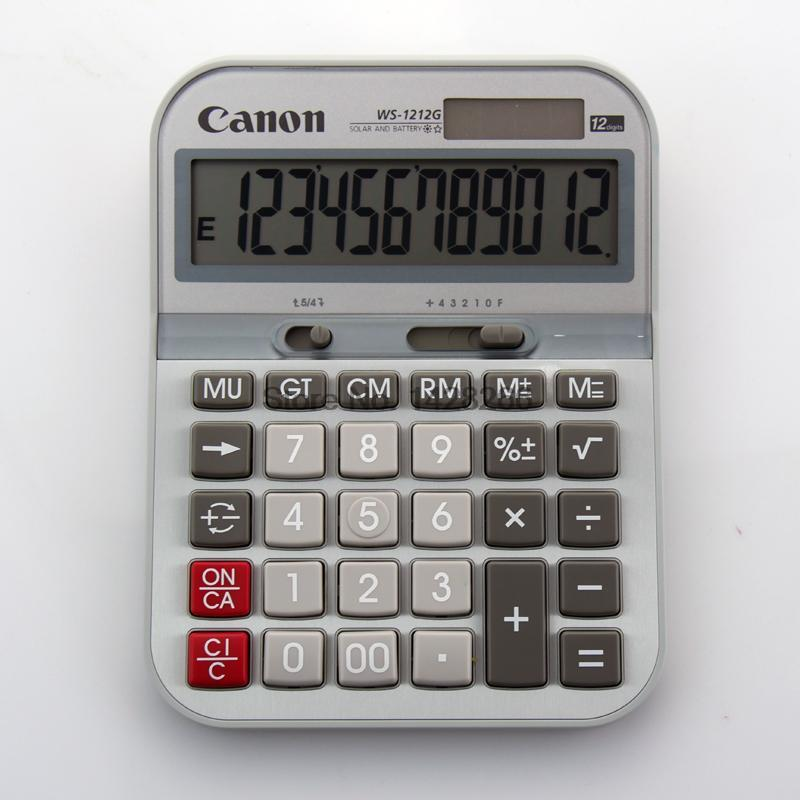 1 Piece Canon WS 1212G Calculator metal panel with 12 Digits Large Screen Genuine Canon Canon
