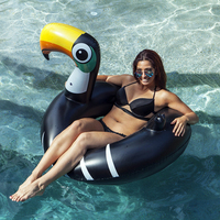 Giant Swimming Ring Black Toucan Swimming Circle 2019 New Inflatable Woodpecker Pool Float Floating Tube for Adult Island boias