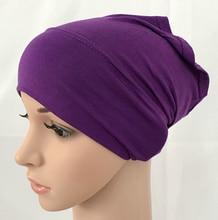 Modal katoen effen effen kleur innerlijke cap bandage islamitische underscarfs hijab