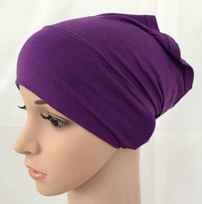מודאלי כותנה רגיל מוצק צבע פנימי כובע תחבושת מוסלמי underscarfs חיג אב