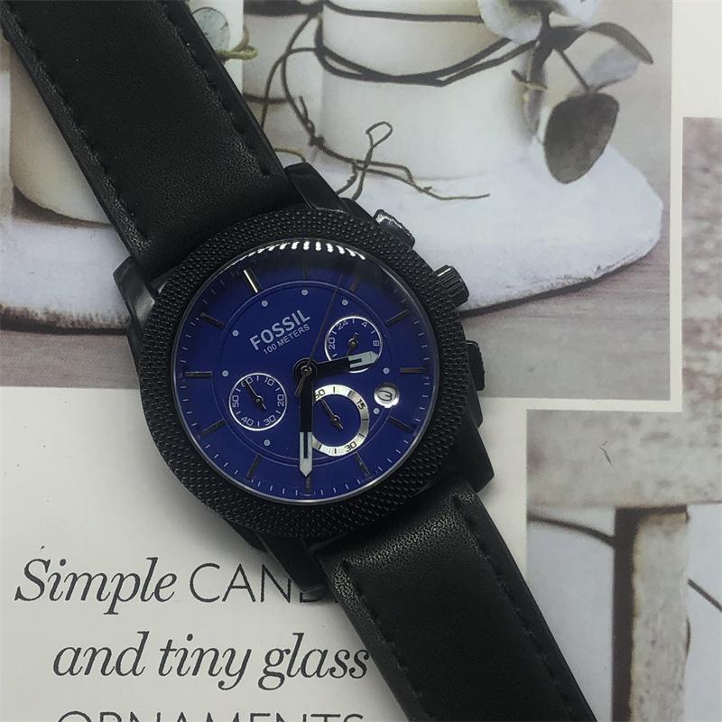 Kopalnych jakości mężczyzna wojskowy zegarek skórzany stali nierdzewnej luksusowy zegarek na co dzień znane marki zegarek kwarcowy mężczyzna zegar moda sport nowy