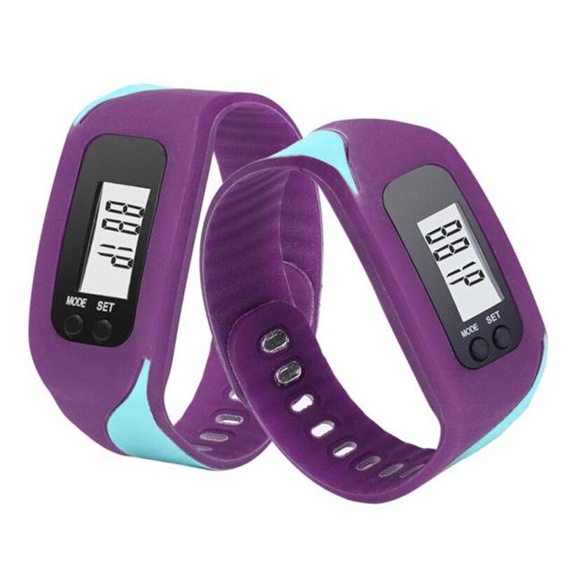 Sport Watch Digital LCD Pedometer Run Step Walking Distance Calorie Counter Watch Bracelet Ma21