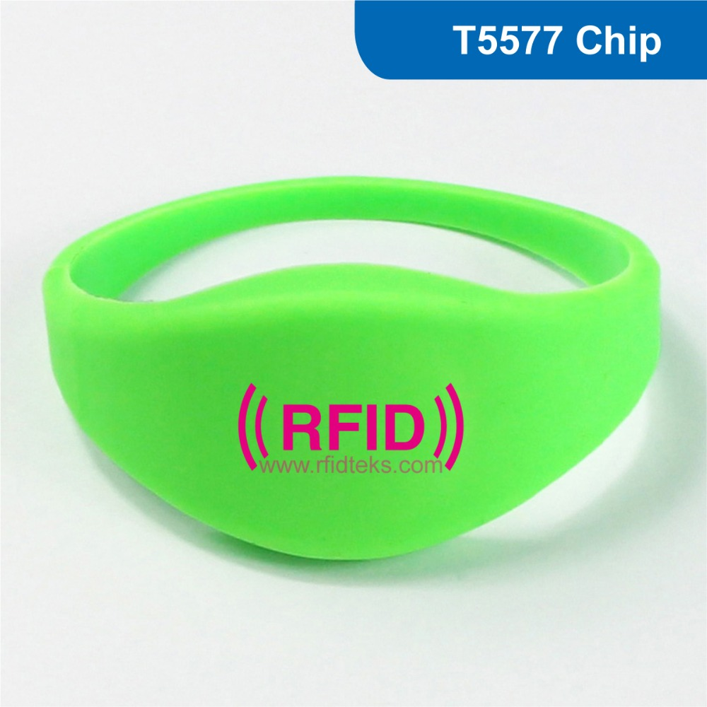 WB09 Silicone Rfid Wristband/Bracelet for access control 125KHZ 330 BITS R/W ATMEL ISO18000-2 With T5577 Chip Free Shipping wb01 hot sales silicone rfid wristband for access control nfc bracelet iso14443a 13 56mhz with m1 s50 chip free shipping