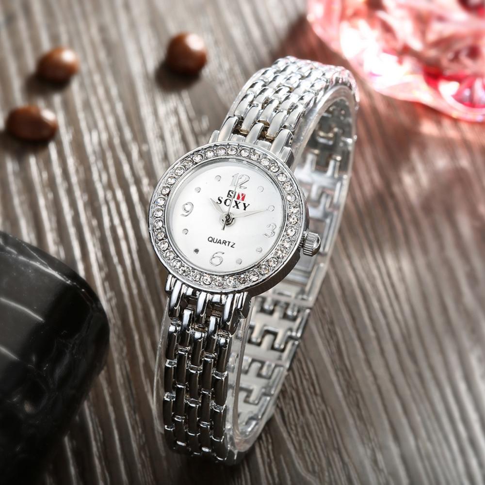 Mode Klocka Kvinnor Silver Klocka Kvinnor Armband Armbandsur - Damklockor - Foto 5