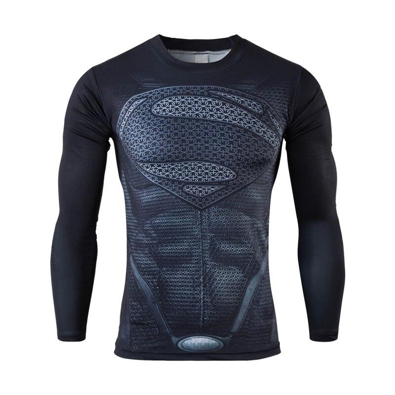 Moto 2016 New font b Fitness b font Compression Shirt Men Superman font b Bodybuilding b
