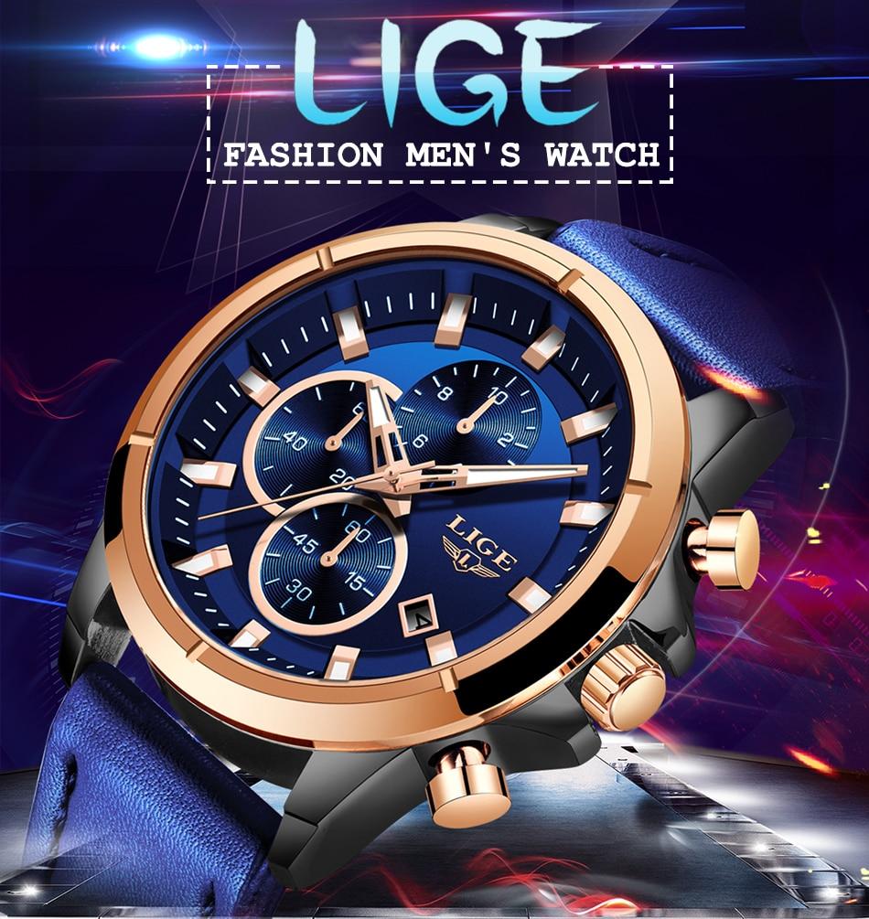 1 Montre Étanche Chronographe Fashion bracelets Cuir