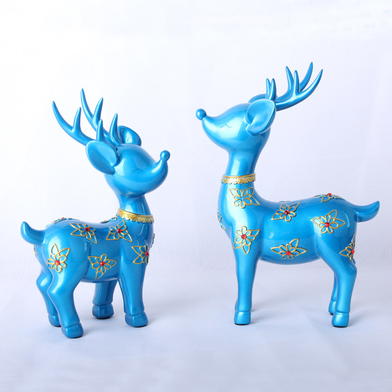 2Pcs/Set Nordic Style Modern Abstract Resin Deer Statue Resin Ornaments Home Decoration Accessories Geometric Deer Sculpture2Pcs/Set Nordic Style Modern Abstract Resin Deer Statue Resin Ornaments Home Decoration Accessories Geometric Deer Sculpture