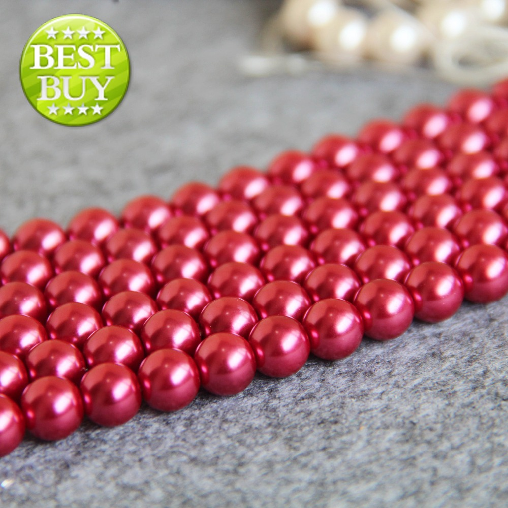 2017 nouveau 8mm rouge shell perle perles coquillage bricolage