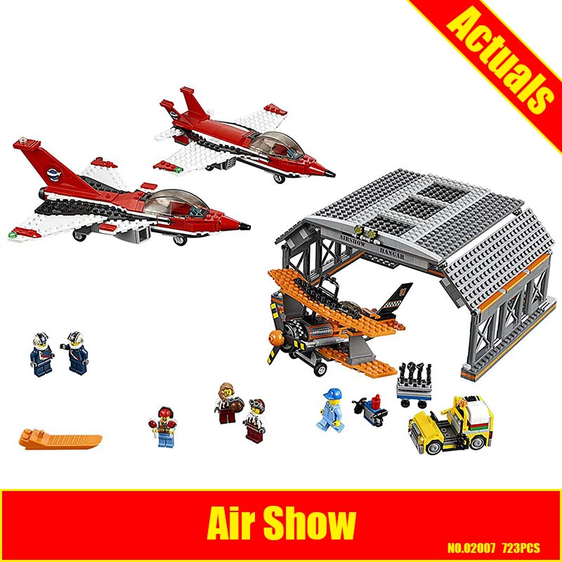 Lepin 02007 723pcs City Series Airport Flight Performance Building Block Compatible 60103 Brick Toy цена и фото
