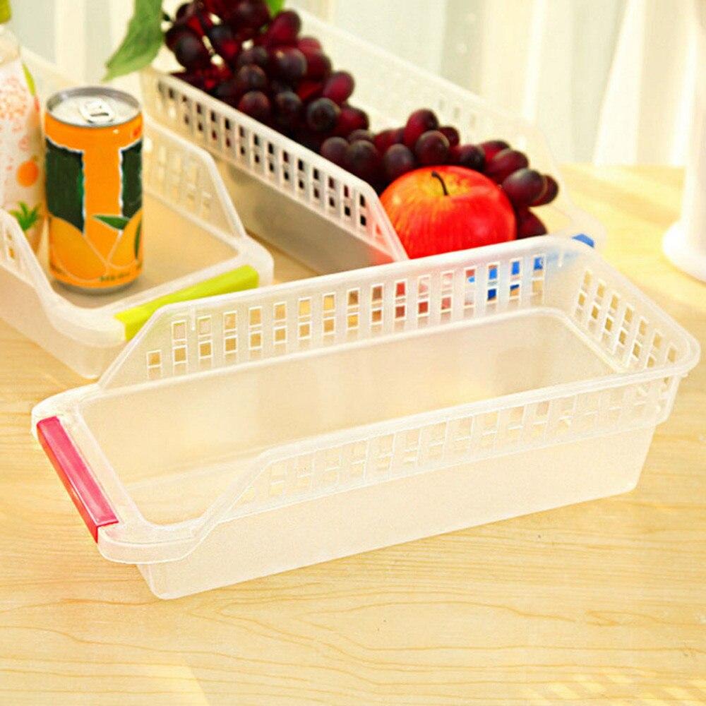 29.6*8.6*13.4cm Kitchen Refrigerator Organizer Fruits Vegetables Eggs Organizer Drinking Slide Shelf Rack Plastic Storage Boxes