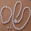 De calidad superior 925 mujeres joyería conjuntos collar pendientes pulsera pulsera con encanto accesorios románticos de la boda WT294