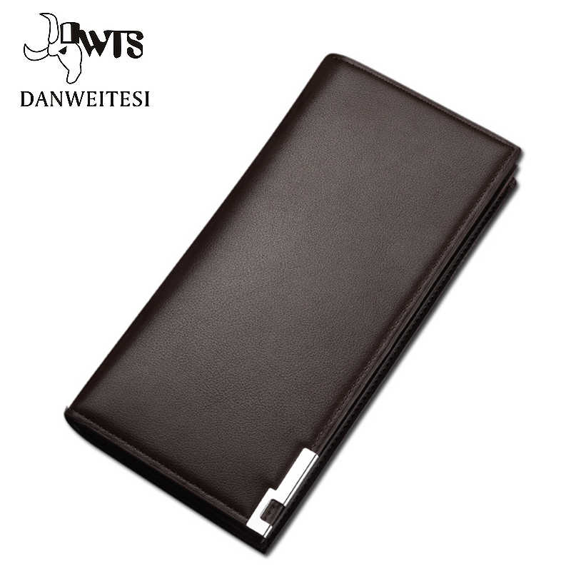 [DWTS] wallet men classic long style card holder male purse quality zipper large capacity big brand luxury wallet for men
